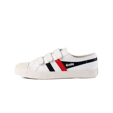 Coaster Velcro Off White/Navy/Red_CLA478WX